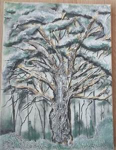 Tableau En Relief : tableau huile toile arbre en relief technique mixe ~ Melissatoandfro.com Idées de Décoration