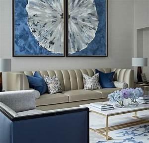 Salon Gris Bleu : salon bleu et gris best deco salon bleu canard et gris marvellous design salle de bain mineral ~ Melissatoandfro.com Idées de Décoration