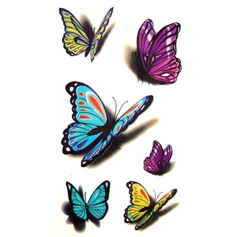 Tatouage Ephemere, Tatouage Temporaire, Tatouage Papillon 3d