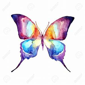 Butterfly,watercolor Design Stock Photo, Picture And ...
