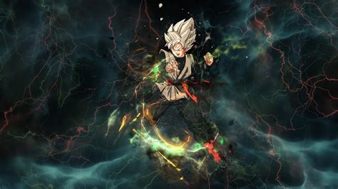thunder goku black hd wallpaper background image