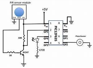 enginnering hobby projects motion sensor using pir sensor With diagram for pir sensor motion sensor light switch wiring diagram