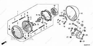 Honda Motorcycle 2015 Oem Parts Diagram For Headlight