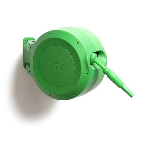 retractable garden hose retractable garden hose reel in green by zee zee designs