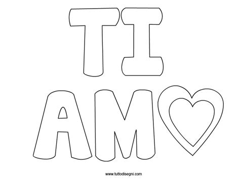 Te Amo Coloring Pages - Democraciaejustica