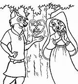 Robin Hood Coloring Pages Tree Carving sketch template