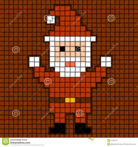 pixel santa christmas theme stock illustration image