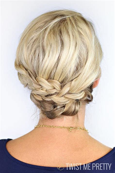 easy twist styles for hair cool updo hairstyles for with hair fashionisers 8131