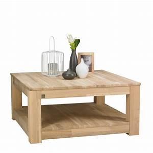 Table Basse Pin : table basse en pin bross 85x85 gerarda par drawer ~ Teatrodelosmanantiales.com Idées de Décoration