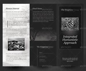 Brochure Download Template Black White Theme Trifold Brochure Template By Kinzi21