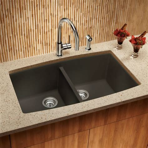 Shop Blanco Performa 20in X 33in Cafe Brown Doublebasin