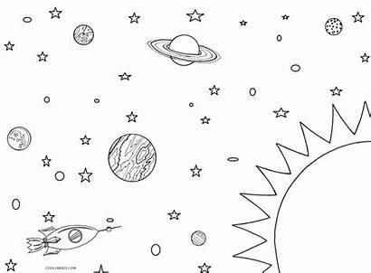 Solar Coloring System Pages Drawing Printable Nasa