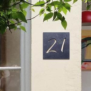Plaque De Maison Originale : plaque originale en ardoise avec num ros d coup s fixations invisible ~ Teatrodelosmanantiales.com Idées de Décoration
