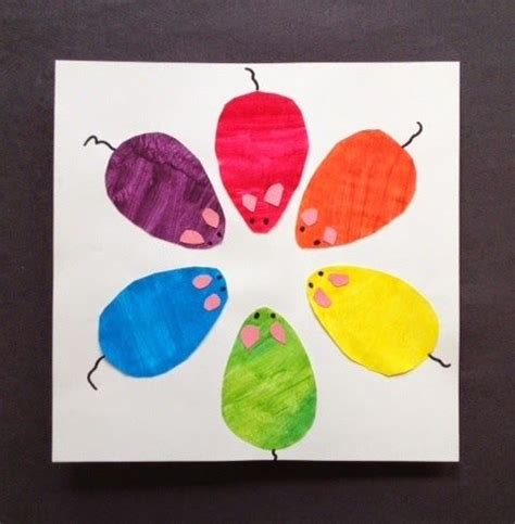 mouse color wheel painting activity to teach primary and
