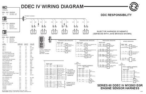 ddec iv egr engine harness turbocharger energy technology