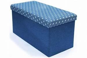 Banc Pliable Pas Cher : coffre rangement banc pliable bleu dotty meuble de rangement pas cher ~ Teatrodelosmanantiales.com Idées de Décoration