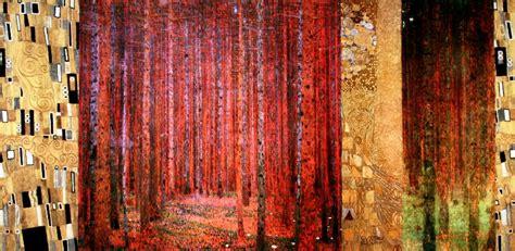 gustav klimt poster forest patterns ii    cm