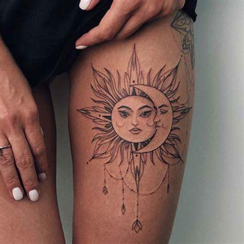 thigh tattoos  women cute ideas designs