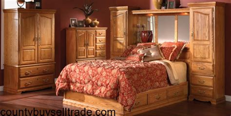 oak lincoln manor wall bed from furniture row in