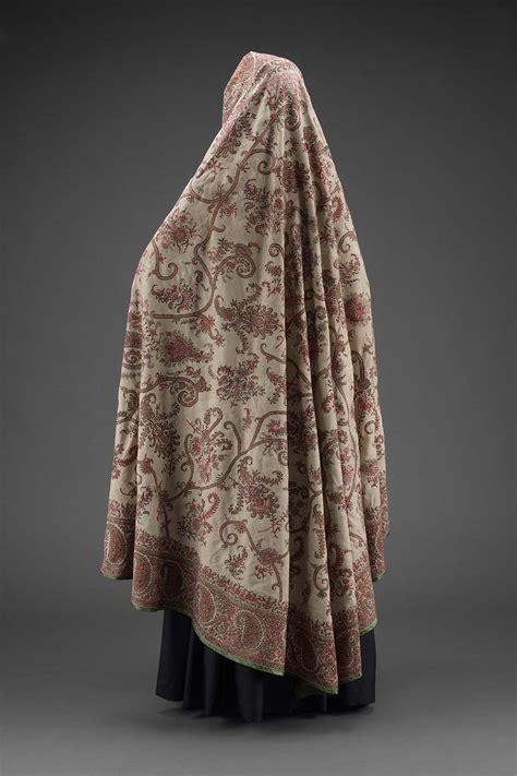 womans head covering chador museum  fine arts boston