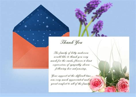 pink rose   card template funeral   card
