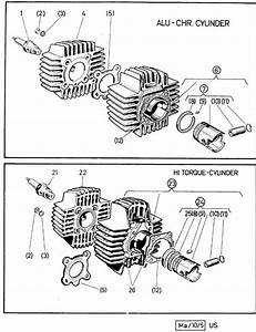 Puch Moped Pmecp05 Cylinder Cover Gasket For The 1 Speed