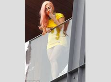 Lady Gaga shows off her love of Brazil and new pink hair