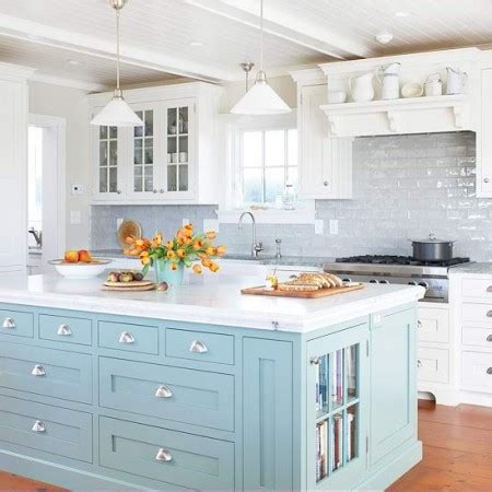 painted islands for kitchens kitchens with color diy