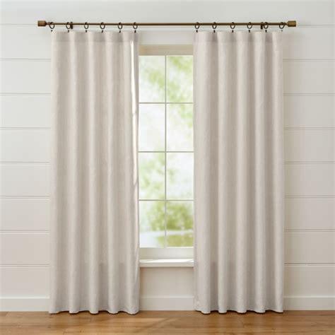 largo natural linen curtain panels crate  barrel