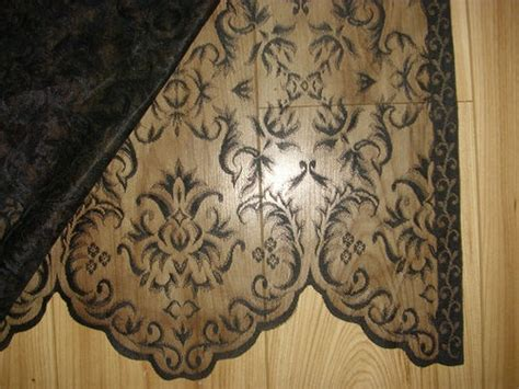 pair of black lace curtain panels home wishes