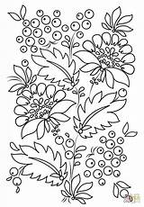Coloring Fabric Petrykivka Cloth Printable Pattern Painting Template Sheets sketch template