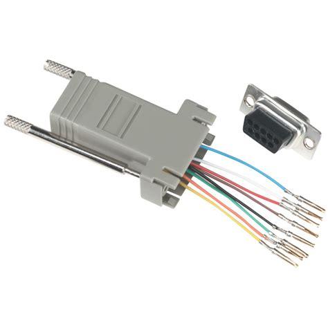 modular adapter kit db9f to rj45f 8 wire black box