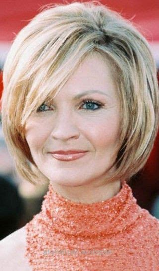 Hairstyles For Women Over 50 Blond Round Bob Short