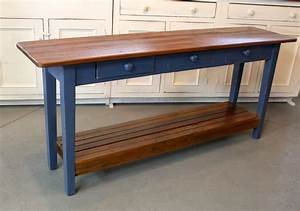 Barn Wood Console Table With Slatted Shelf - ECustomFinishes