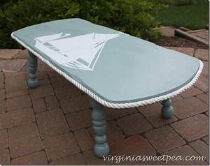Nautical themed coffee table makeover sweet pea for Themed coffee tables