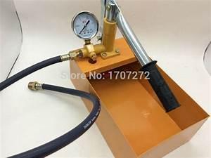 The Plumber Tools Manual Pressure Test Pump Water Pressure