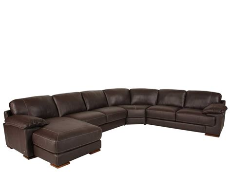 m chaise furniture brown leather sectional with chaise