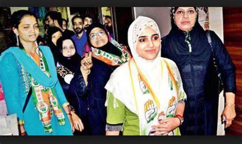 Hijab Clad Nikita Nikam Congress Defeated Waqarunnisa