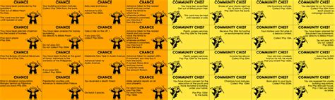 chance and community chest cards template google images