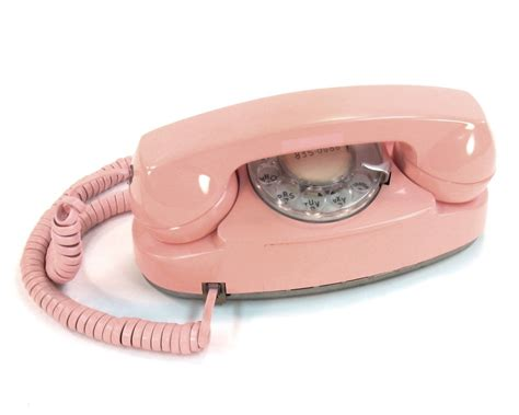 vintage rotary telephone pink princess phone