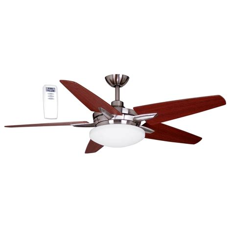 lowes ceiling fans with lights and remote shop litex 52 in brushed nickel downrod mount ceiling fan