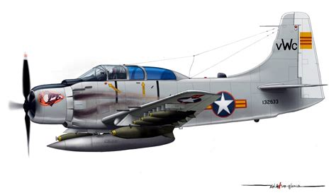 1/144 Scale Resin Kit Douglas Ad-5 Skyraider South Vietnam
