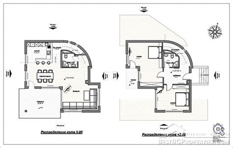 villa floor plans 2 bedroom country villa modern design rural villa plan