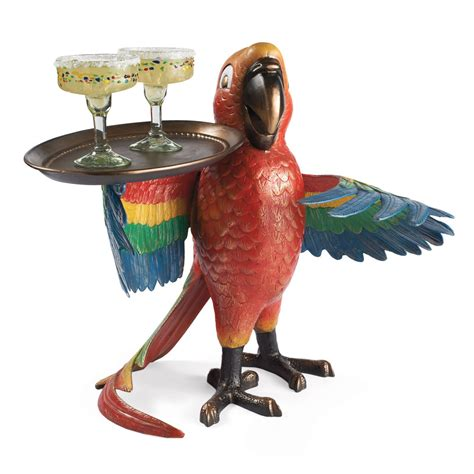 Outdoor Parrot Decor by Drink Serving Parrot Butler The Green Head