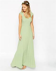 lyst asos wedding maxi dress with pleated skirt and With maxi dress at wedding