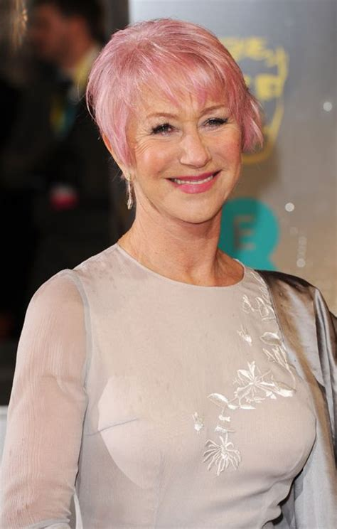 Helen Mirren Pink Hair My Style Pinboard Pinterest