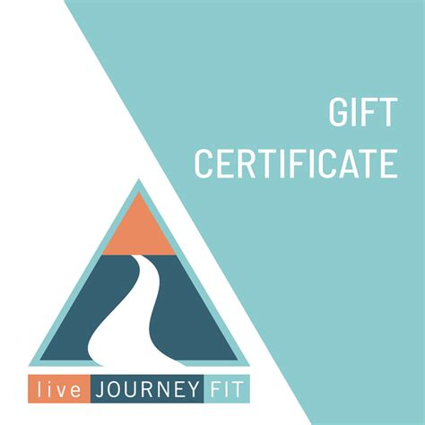 gift certificate  journey fit
