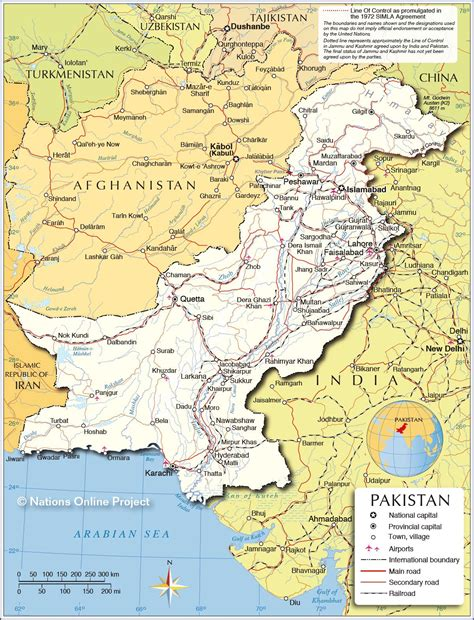political map  pakistan june  crafts