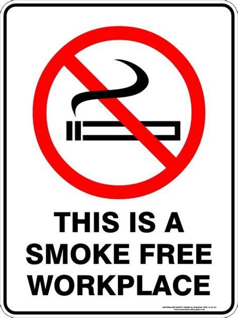 smoke  workplace australian safety signs
