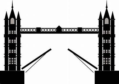 London Bridge Tower Clipart Transparent Silhouette Background